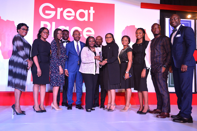 FBNHoldings received Certification as a Great Place to Work and the 5th Best Company to work for in Africa 2019