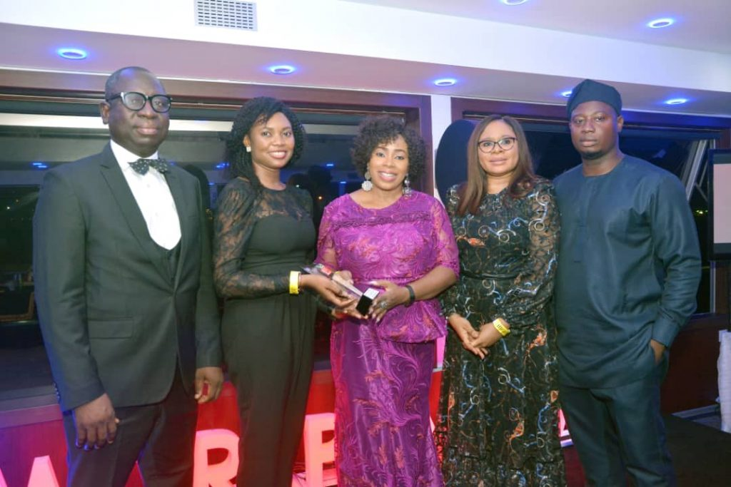 L-R: Tunde Lawanson, Head, Marketing and Corporate Communications, FBN Holdings Plc, Ugochi Onuekwusi, Human Resources Officer, Rev. Oluwayomi Uteh, General Manager, Operations TREM, Oyinade Kuku, Head, Human Resources, FBN Holdings Plc and Douglas Elisha, Technical Assistant to the GMD, FBN Holdings Plc.